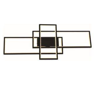 Podłużna lampa sufitowa / Kinkiet Avar - czarna, LED