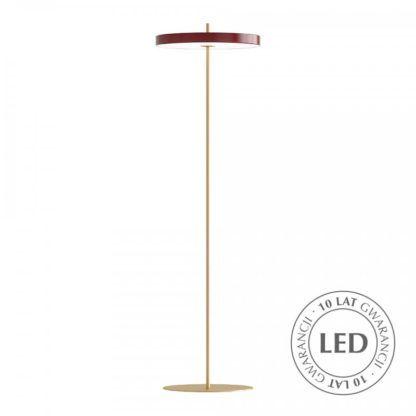 Lampa podłogowa Asteria - bordowa, LED