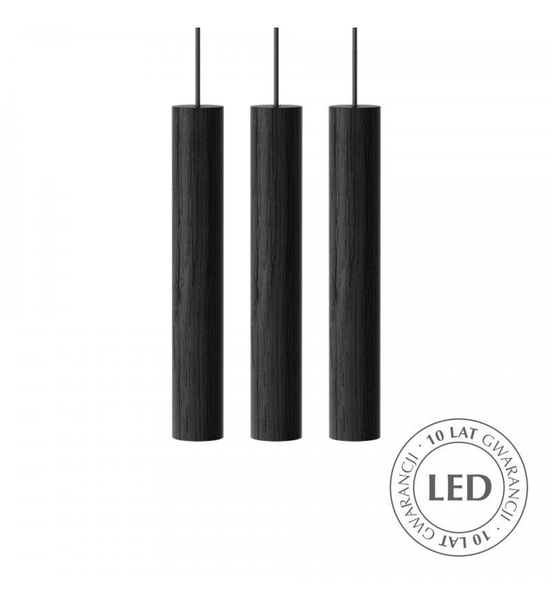 Lampa wisząca Chimes Cluster - czarny dąb