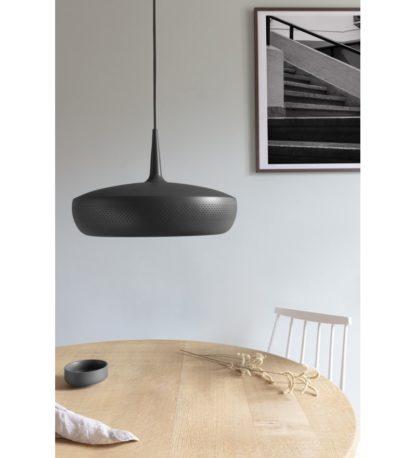 czarna lampa nad stół nowoczesna