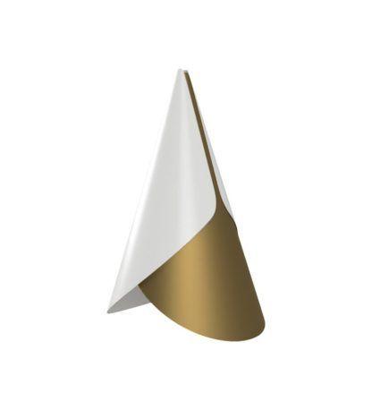 biało-złota nowoczesna lampa wisząca mały klosz