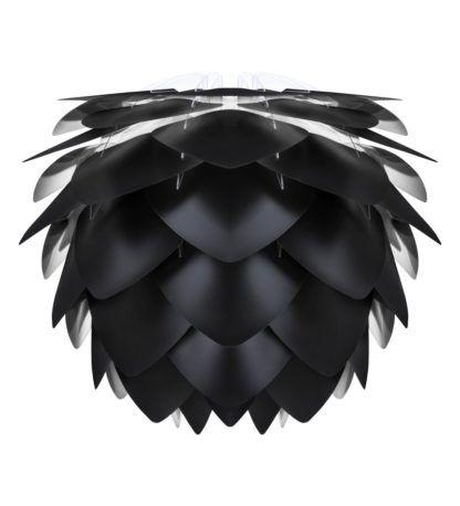 lampa wisząca nowoczesna czarna szyszka