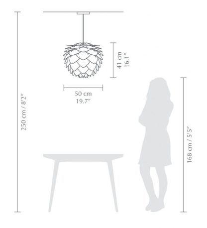 Lampa wisząca Silvia - szyszka, szary mat