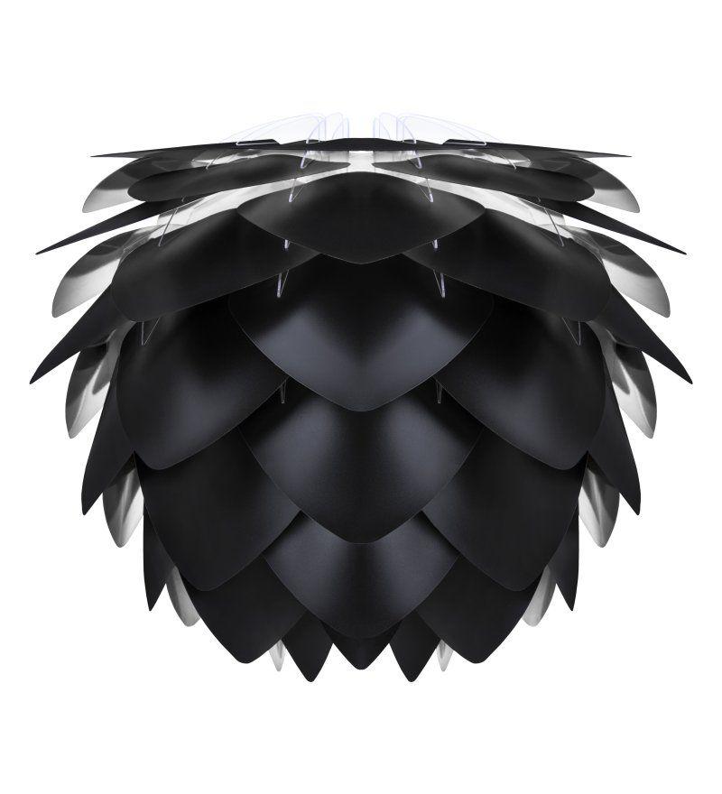 czarna lampa wisząca do salonu szare ściany