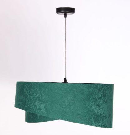 zielona lampa wisząca welurowa