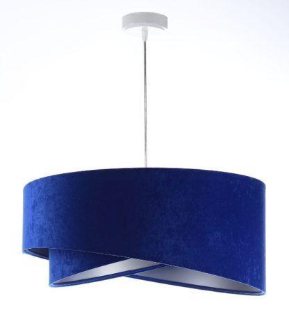 welurowa lampa wisząca kobaltowa