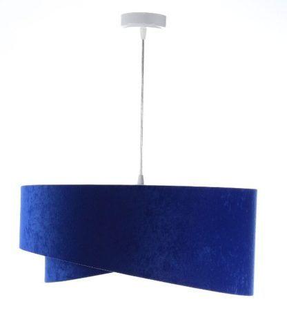 kobaltowa lampa wisząca atłasowa