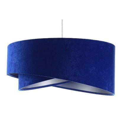 kobaltowa lampa wisząca do jadalni