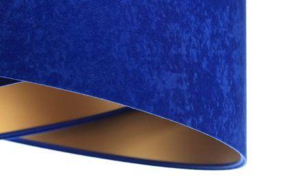 kobalt i złoto lampa wisząca atłas