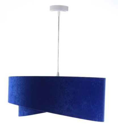 lampa wisząca kobaltowa welur