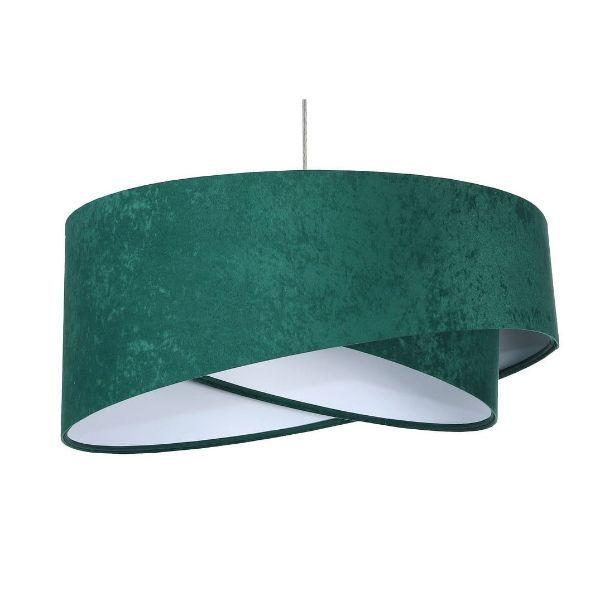welurowa zielona lampa do salonu