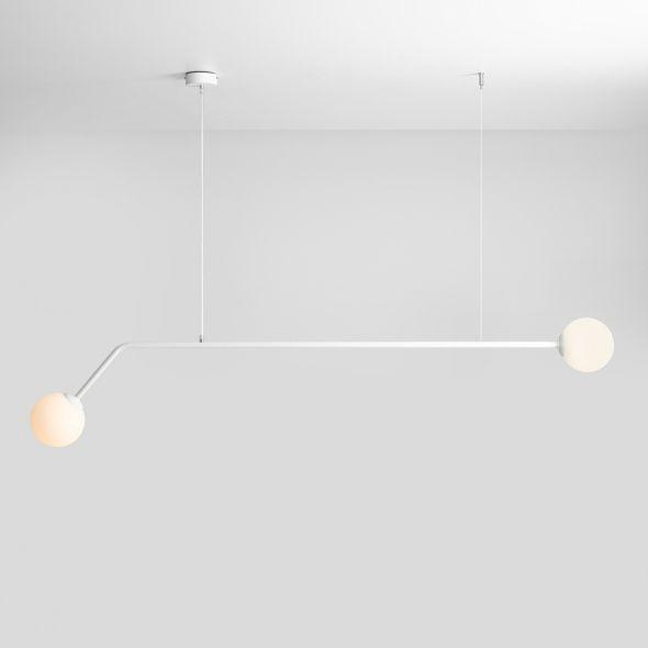 podłużna biała lampa wisząca