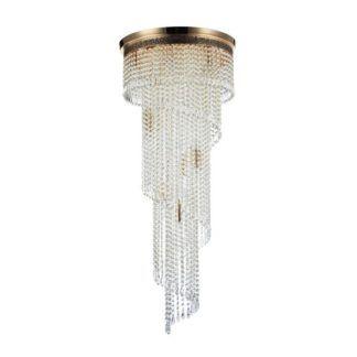 Kryształowy żyrandol Cascade - duży, złoty