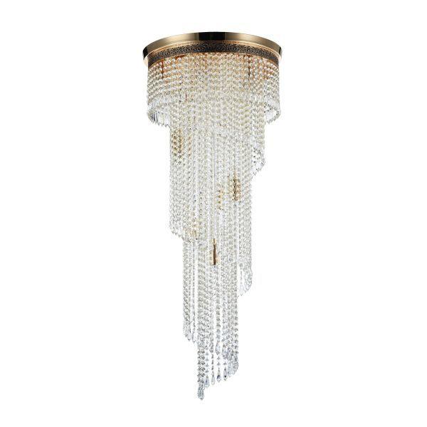 luksusowa lampa kryształowa kaskada