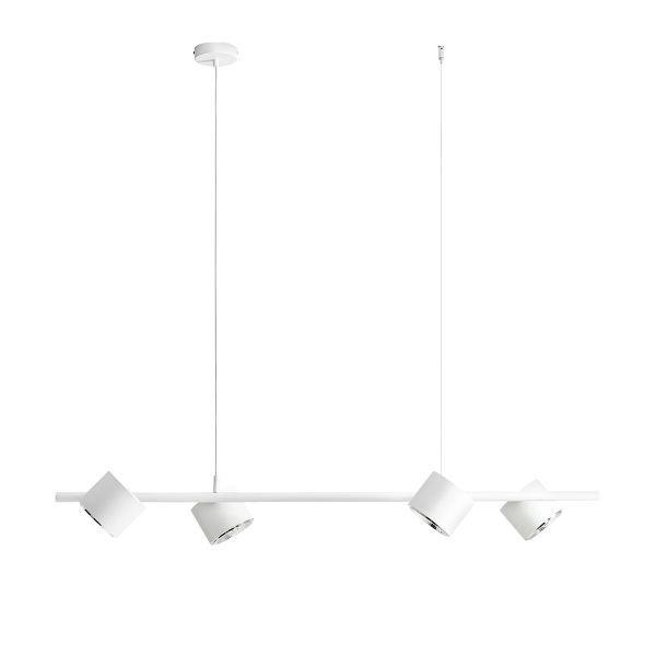 Lampa wisząca Bot - biała, nowoczesna