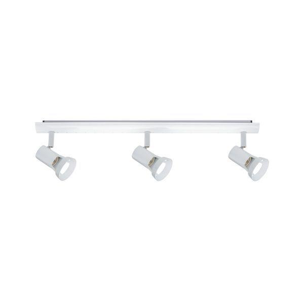 podłużna lampa sufitowa biała