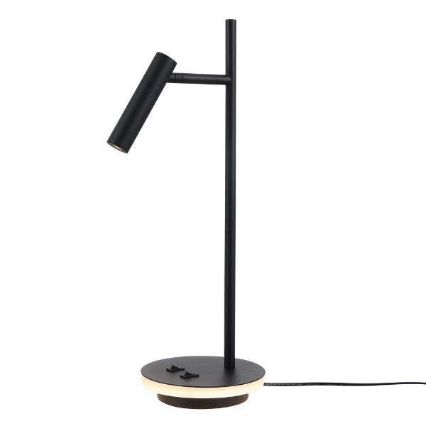 Ledowa lampa biurkowa Estudo - podświetlana podstawa