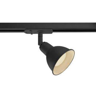 Czarna lampa sufitowa Link Single - Nordlux, system szynowy