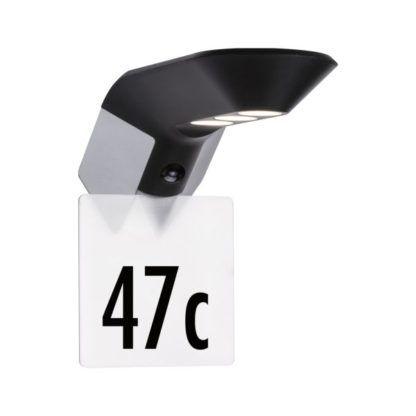kinkiet solarny numer domu
