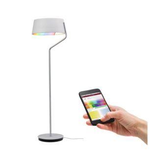Lampa podłgowa Belaja - LED, biała, SmartHome, Bluetooth