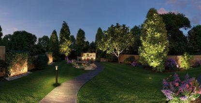 nowoczesne oświetlenie ogrodu