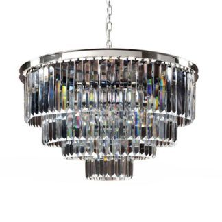 Lampa wisząca Delion - duży klosz, srebrna