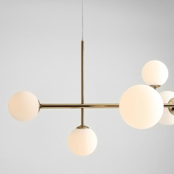 lampy wiszące z kloszami