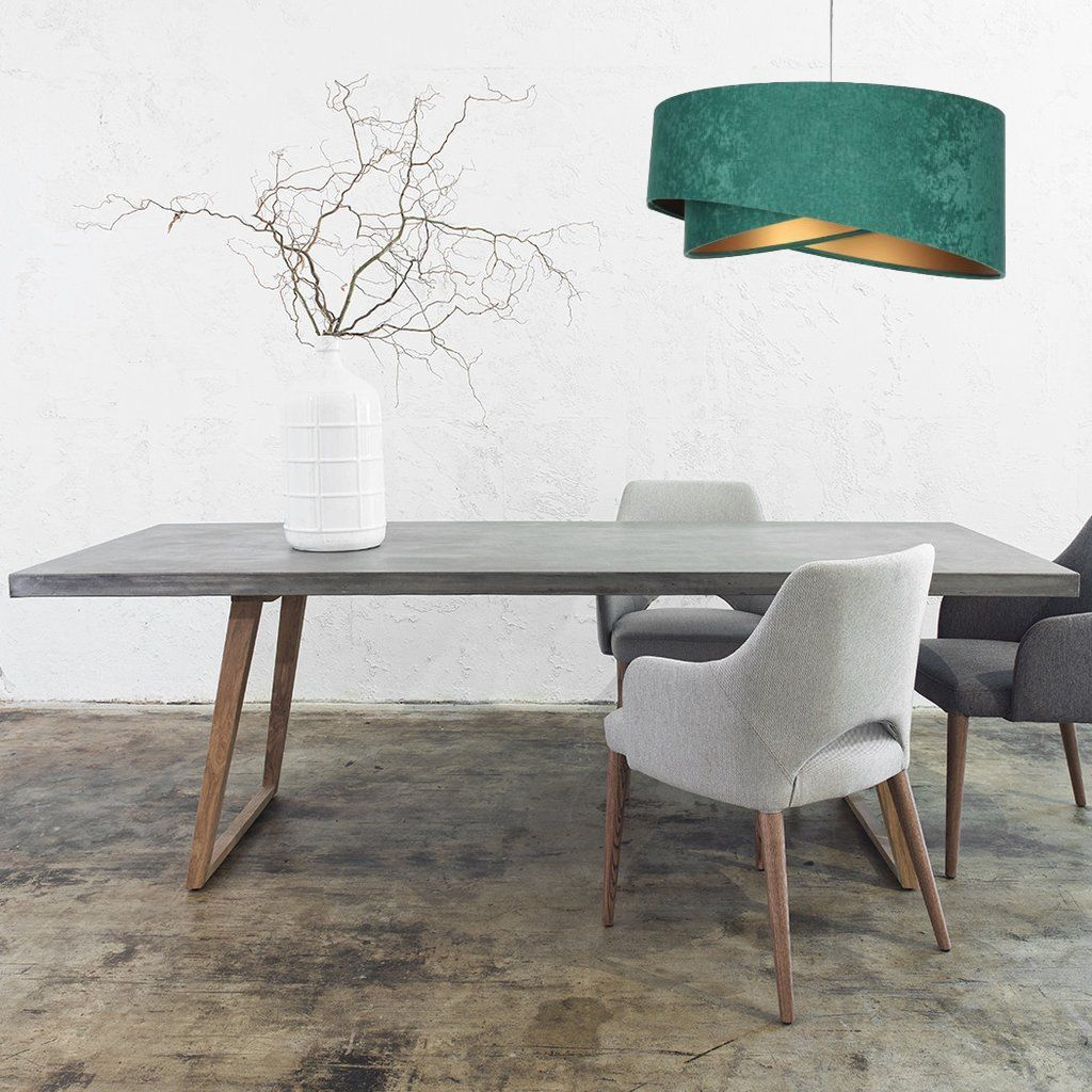 zielona lampa wisząca do salonu nad stół
