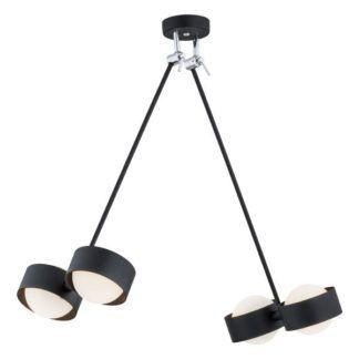 Nowoczesna lampa wisząca Massimo - czarna, szklane kule, IP44
