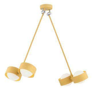 Złota lampa Massimo - regulowane klosze, LED