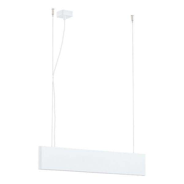 biała belka lampa wisząca drewniana