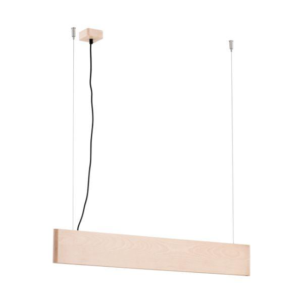 drewniana lampa wisząca led do jadalni