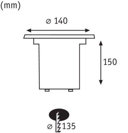 Oczko Plug&Shine - IP67, 4000K, 24V, 38°