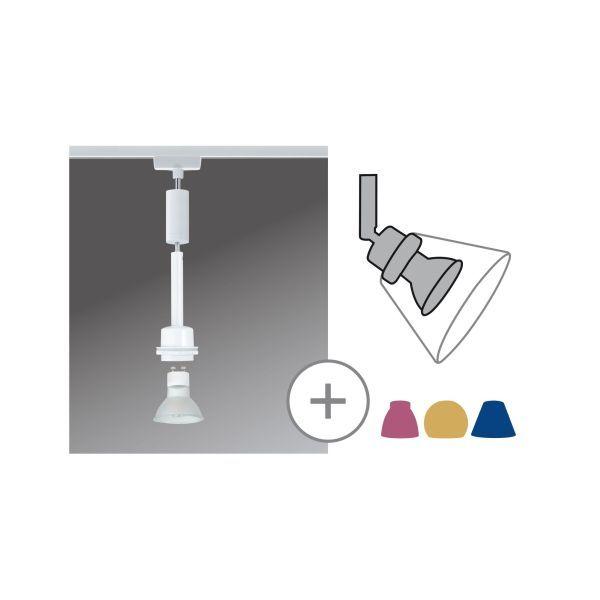 Zwis Blanko - do systemu szynowego URail, DecoSystems, białe