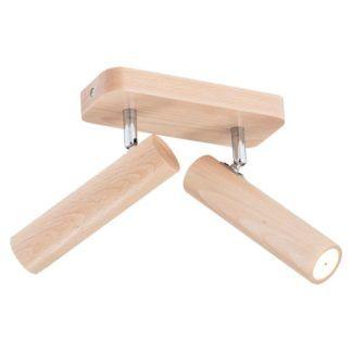 Drewniana lampa sufitowa Adonis - LED, regulowana