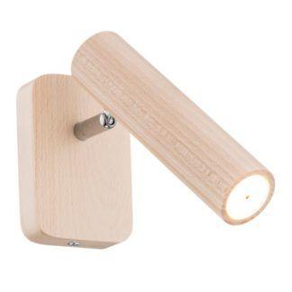 Drewniany kinkiet Adonis - reflektor LED