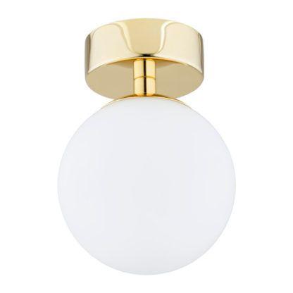 złoty kinkiet kula do łazienki ip 44