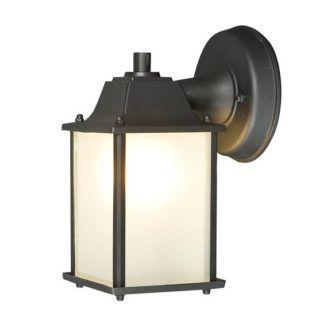 Czarny kinkiet Spey - latarnia, IP21