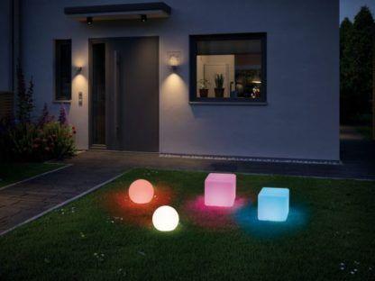 kolorowe oświetlenie do ogrodu