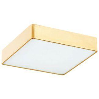 Kwadratowy plafon Atlantis - złoty, 25cm, LED