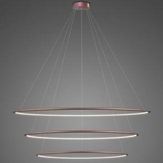 Lampa wisząca Shape - LED, 4000K, różowe złoto, IP44, 150cm