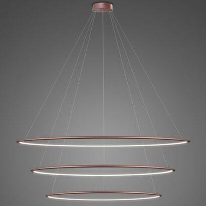 lampa wisząca kręgi led różowe złoto