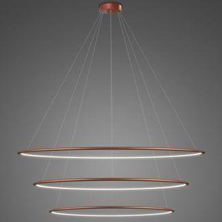 Duża lampa wisząca Shape - LED, 4000K, miedziana, IP44