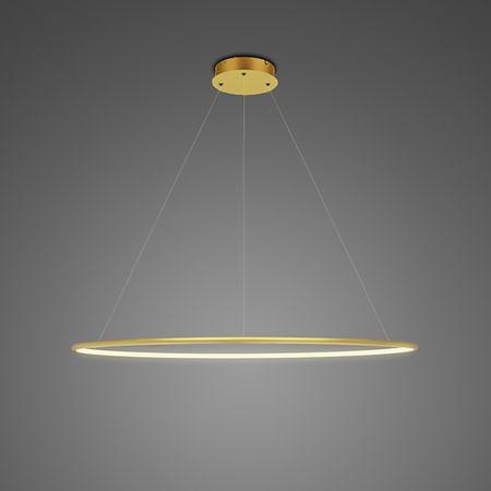 Lampa wisząca Shape - LED, 3000K, 80cm, złota, IP44
