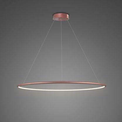 lampa wisząca led ring złoty