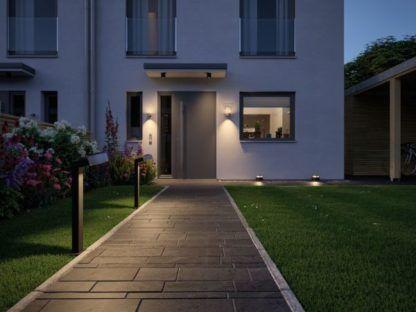 oświetlenie domu podjazd