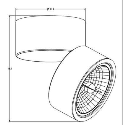 Czarna lampa sufitowa Lomo - regulowana