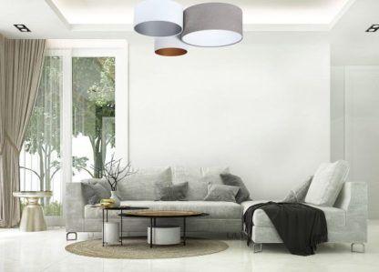 welurowa lampa sufitowa do salonu