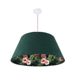 Zielona lampa wisząca Jungle - zielona, welurowa