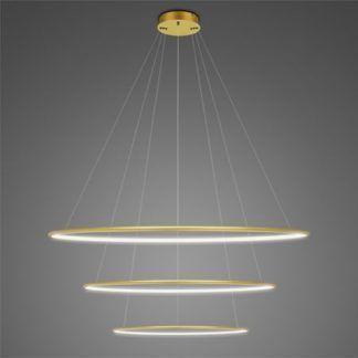 Lampa wisząca Shape - LED, 4000K, złota, IP44